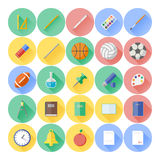 Modern flat icon vector illustration collection Stock Photography