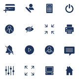 Modern flat icons  collection. Interface elements, business and office items. Isolated on white background. Stock Photo