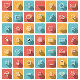 Modern flat icons  collection Royalty Free Stock Photography