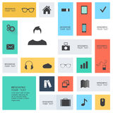 Modern flat icons  Royalty Free Stock Photo