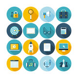 Modern flat icons  collection with long shadow effect. Stock Image