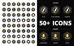 Modern flat icons collection Royalty Free Stock Image