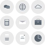 Modern flat icons  collection, web design objects, business, finance, office and marketing items. Modern flat icons  collection, web design objects, business Stock Image