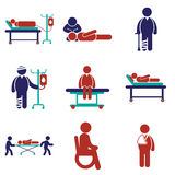 Modern flat  icons collection on white background Royalty Free Stock Photos
