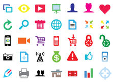 Modern Flat Icons Set Stock Photography