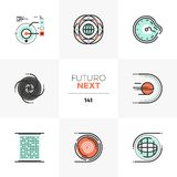 Abstract Space Futuro Next Icons vector illustration