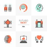 Human Synergy Futuro Next Icons stock illustration