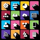 Modern flat icons vector collection. Stock Images