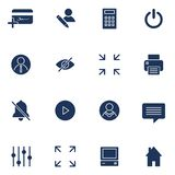 Modern flat icons vector collection. Interface elements, business and office items. Isolated on white background. royalty free illustration