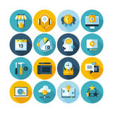 Flat business icons Stock Photography