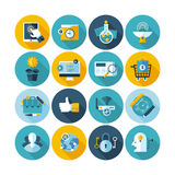 Set of business and office icons Royalty Free Stock Image