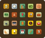 Modern flat icons vector collection with long shadow effect Royalty Free Stock Photography