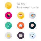 Modern flat icons vector collection with long shadow effect in s Royalty Free Stock Photo