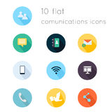 Modern flat icons vector collection with long shadow effect in s Royalty Free Stock Photography