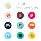 Modern flat icons vector collection with long shadow effect Royalty Free Stock Photos