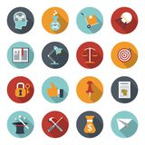 Modern flat icons vector collection Royalty Free Stock Images