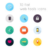 Modern flat icons vector collection with long shadow effect Stock Image