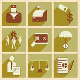 Modern flat icons vector collection with shadow. Modern flat icons vector  collection with shadow economy money business Stock Photo