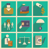 Modern  flat icons vector collection with shadow economy money business. Modern flat icons vector collection with shadow economy money business Royalty Free Stock Image