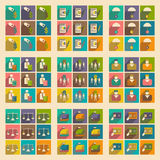 Modern  flat icons vector collection with shadow economy money business Royalty Free Stock Image