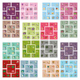 Modern flat icons vector collection with shadow food Stock Photo