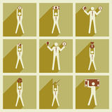 Modern flat icons vector collection Stick Figure Royalty Free Stock Photo