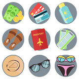 Modern flat icons vector collection royalty free illustration