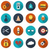 Modern flat icons vector. Vector illustration Royalty Free Stock Photography