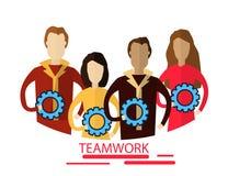 Modern Flat Illustration of Teamwork to reach goal Stock Photo