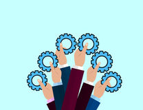 Modern Flat Illustration of Teamwork to reach goal Royalty Free Stock Images