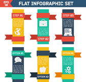Modern flat infographic background. Royalty Free Stock Photo