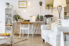 Modern flat interior royalty free stock photos