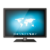 Modern flat lcd tv Royalty Free Stock Images