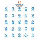 Modern Flat Line Color Icons- People avatars Stock Image