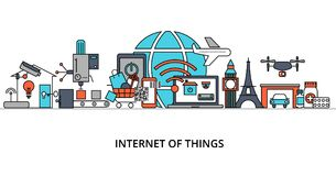 Concept of internet of things Royalty Free Stock Photo
