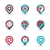 Modern Flat Map Pointer Sign Navigation Pin Symbol Location Vector Icon. EPS10 Stock Photo