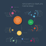 Modern flat material design infographics template Stock Image