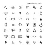 Modern Flat Minimal Icons Stock Image