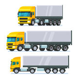 Modern flat nose articulated lorry truck Royalty Free Stock Photos