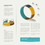 Modern flat page. Stock Images