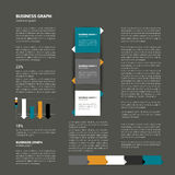 Modern flat page layout. Royalty Free Stock Image