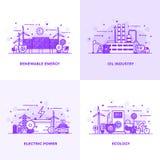 Flat line Purple Designed Concepts 10 vector illustration