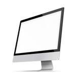 Modern Flat Screen Computer Monitor. Royalty Free Stock Photo