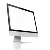 Modern flat screen computer monitor. Royalty Free Stock Photography