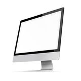 Modern flat screen computer monitor. Royalty Free Stock Photo
