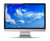 Modern flat screen computer monitor. Stock Photo