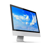 Modern flat screen computer monitor. Stock Images