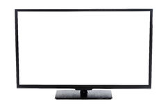 Modern flat screen TV with blank empty screen Isolated Royalty Free Stock Photography