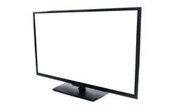 Modern flat screen TV with blank empty screen Isolated Royalty Free Stock Images