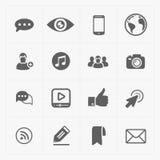 Modern flat social icons set on White Royalty Free Stock Image